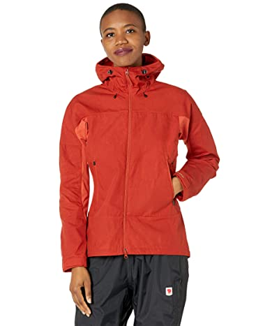 Fjallraven Abisko Lite Trekking Jacket (Cabin Red/Rowan Red) Women