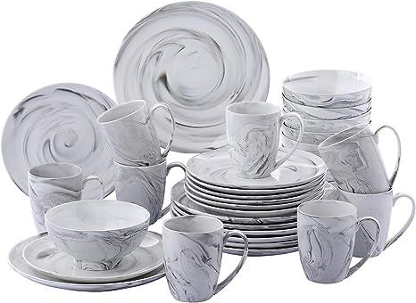 Vancasso Crockery Set Porcelain Crockery Amazon De Home Kitchen