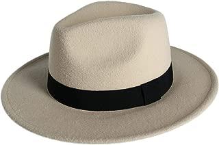 Jeanne Simmons Faux Felt Large Brim Fedora with Grosgrain Hatband