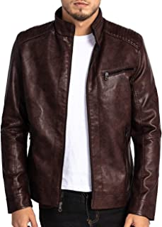 Best cheap leather jacket mens Reviews