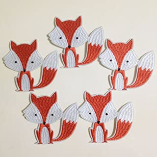 Set of 10pcs Woods Woodland Animal Fox Iron On Sew On Cloth Embroidered Patches Appliques Machine Embroidery Needlecraft Sewing Girls projects