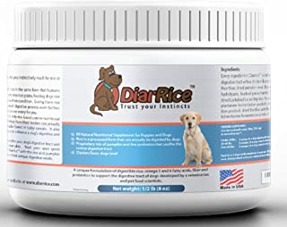 DiarRice Probiotic for Dog Diarrhea, Bloating, Gas, and Stomach Discomfort