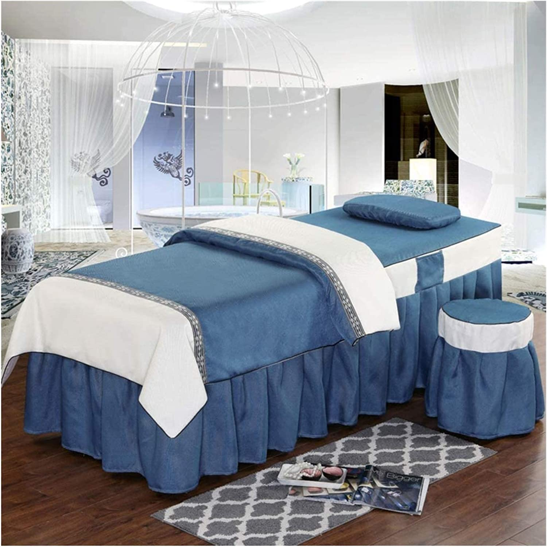 WANGLX 4-Piece Massage Table Arlington Mall Set Skirt Sheet free shipping