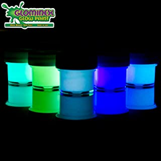5 Pack - Glow in The Dark Paint for Murals & Metal - Art & Party Supplies - Assorted Colors