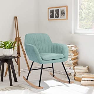 FurnitureR Mecedora tapizada, Mecedora de diseño Moderno Si