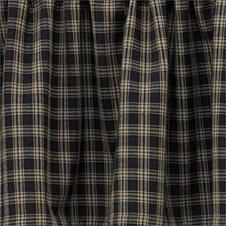 Park Designs Sturbridge Rod Pocket Curtain Pair 72W x 84L, Black
