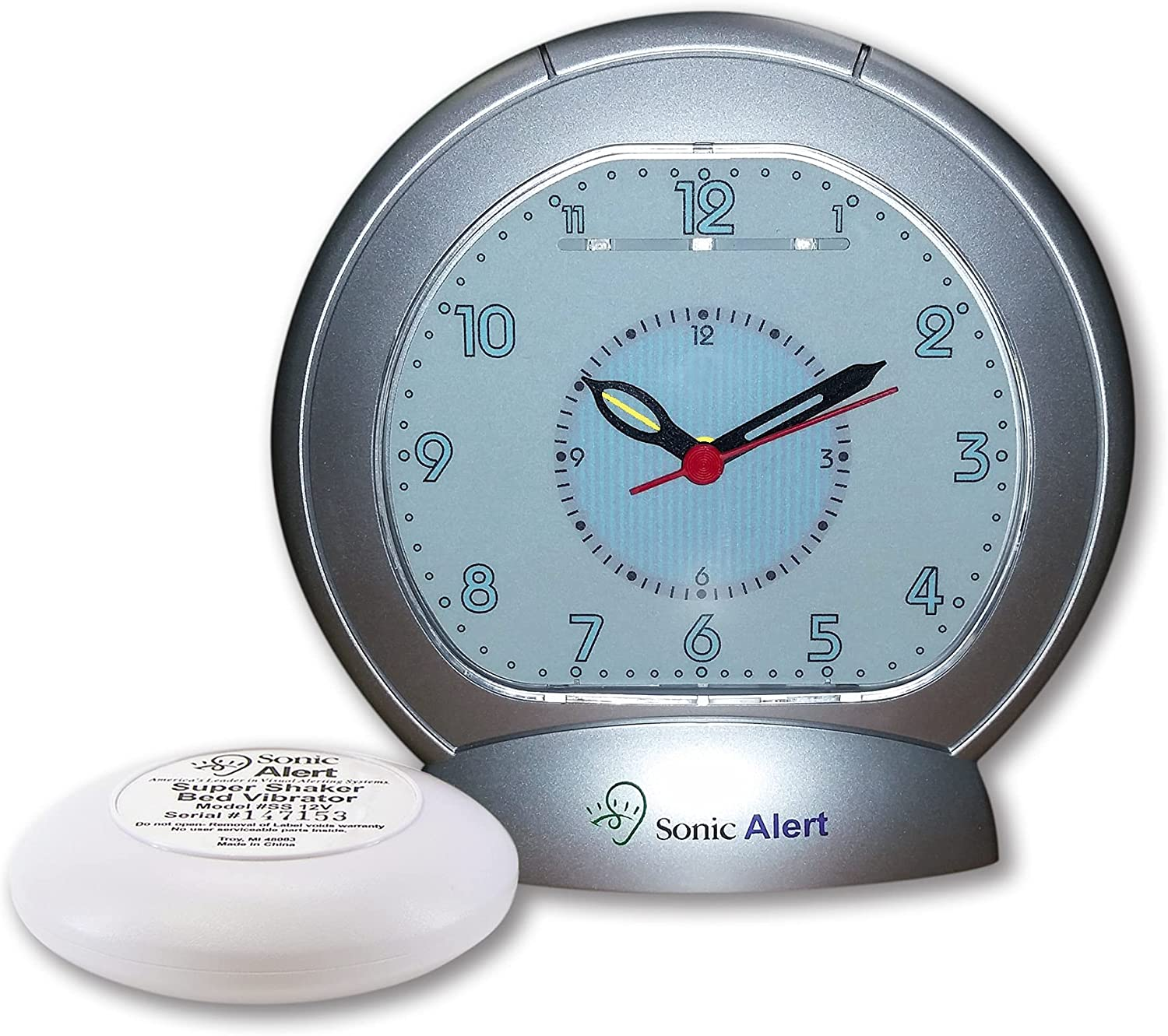 Sonic Bomb Analog Alarm Challenge the lowest price Clock with Shaker - Silver SBA475ss Bed Max 54% OFF