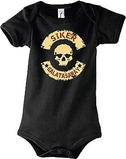TRVPPY Baby Kurzarm Body Strampler Modell Siker Galatasaray
