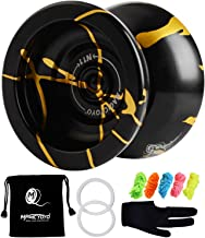 MAGICYOYO Professional Unresponsive Yoyo N11 Alloy Aluminum YoYo Ball (Black with Golden)..