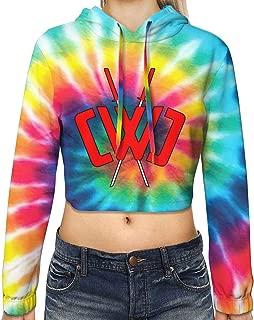 Girl CWC Chad Wild Clay Hoodies Novelty 3D Print Long Sleeve Crop Top Hooded Sweatshirt