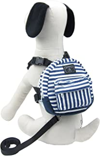 Alfie Pet - Fortune Backpack Harness with Leash Set - Color: Blue, Size: Large