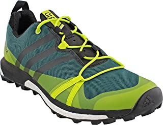 new product 222b1 cb599 adidas outdoor Men s Terrex Agravic Mystery Green Black Semi Solar Yellow  Athletic Shoe
