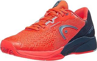 HEAD Men's Revolt Pro 3.5 Tennis Shoe, Neon Red/Dark Blue