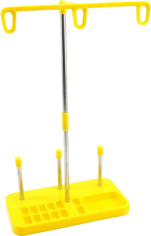 New brothread Soporte de bobina de hilo de bordar - 3 Carretes de Hilo Soporte para máquinas de bordar, coser, acolchar y serger - Tres colores para la selección - Amarillo
