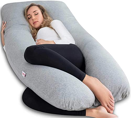 AngQi Full Body Pregnancy Pillow, U Shaped Maternity Pillow for Back Pain Relief and Pregnant Women, with Body Pillow...