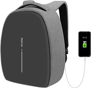 Daskoo Mochila Antirrobo Empresarial, Mochila Portatil de 15.6 Pulgada con Carga USB y Cerradura de Combinación, Mochila de Estudiante Unisex Mochila de Viaje Impermeable
