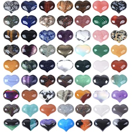 5 Pcs Tiger Eye Puffy Mini Hearts 1 Inch Pocket Hearts Puffy Crystal Puff Hearts