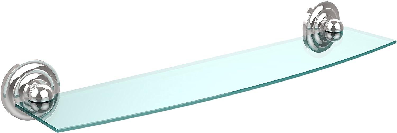 Allied Brass PQN-33 24-PC 24-Inch Glass Shelf Polished Chrome