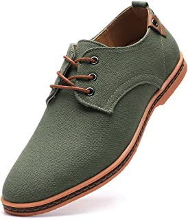 DADAWEN Men's Casual Canvas Lace Up Oxfords Shoes
