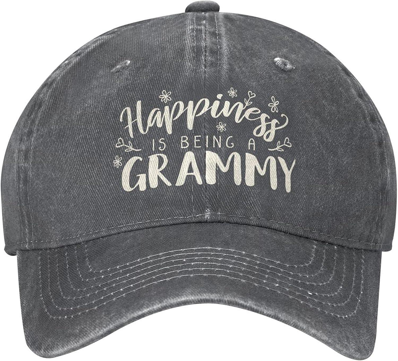 Sunmyth Happiness is Being A Grammy Denim Adjustable Unisex Baseball Cap Sports for Men Women Hats