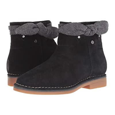 Hush Puppies Catelyn Bow Boot (Black Suede) Women
