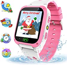 YENISEY Kids Smart Watch for Girls Boys, Touch Screen Smartwatch Phone with SOS LBS Tracker Camera Voice Chat Alarm Match Game Toys Gifts (Pink)