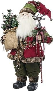 Sullivans Santa with Deer Scepter Figurine