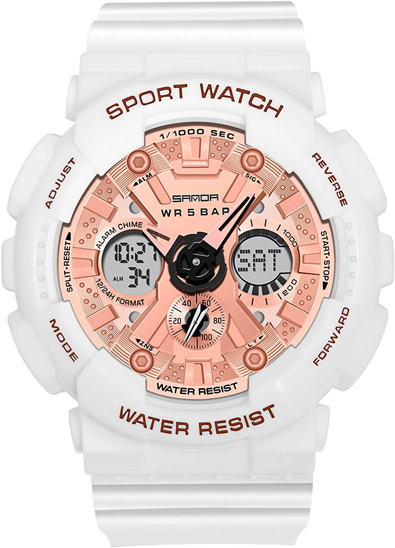 RORIOS Relojes Mujer Hombre Digital Militares Relojes de Pulsera Impermeable Deportivo Reloj Multifuncional Reloj Moda Unisex Reloj