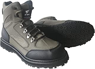 8 Fans Men's Fishing Hunting Wading Shoes Anti-Slip Durable Rubber Sole Lightweight Wading Waders Boots