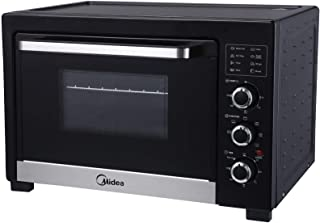 Midea 25 Liters Oven Toaster and Grill, with Toast, Bake, Broil & Pizza Functions, Knob Control - Black - MG25CHB