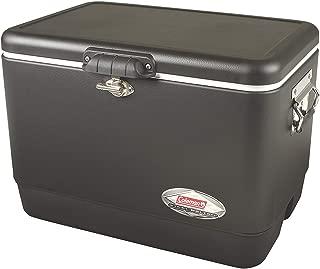 Coleman Steel-Belted Portable 54 Quart Cooler - Black (1 Pack,Black)