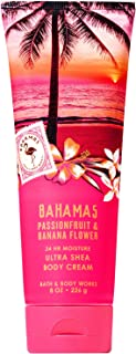 Bath and Body Works BAHAMAS - PINK PASSIONFRUIT and BANANA FLOWER Ultra Shea Body Cream 8 Ounce (2019 Edition)