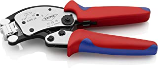 Knipex 97 53 18 Twistor16 Self-Adjusting Crimping Pliers for Wire end Sleeves with rotatable die Head Chrome Plated 240 m...