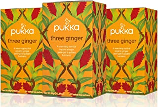 Sponsored Ad - Pukka Three Ginger, Organic Herbal Tea With Galangal & Turmeric (3 Pack, 60 Tea Bags)