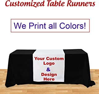 Customize Table Runner Cloth Using your Text and Logo for Business, Trade Shows, Exhibition, Events, Advertising (3' x 5.67')