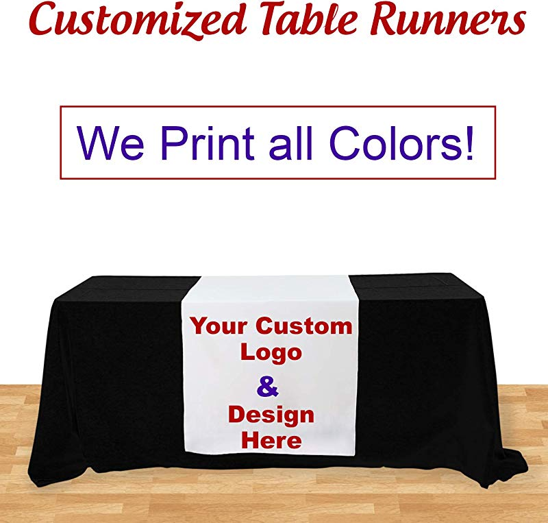 BANNER BUZZ MAKE IT VISIBLE Customized Table Runners 2 X 5 67 Free Design With Using Your Text And Image