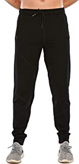 MANAIXUAN Men's Basic Jogger Sweatpants Workout Tapered Athletic Training Pants with Pockets