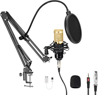 USB Studio Microphone, MAYOGA 96KHZ/24Bit Cardioid Streaming Microphone PC Mic Kit with Professional Sound chipset for Music Recording, Karaoke, Gaming,Podcasting