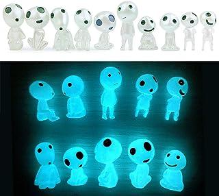 Fairy Garden Accessories Princess Mononoke Glow in Dark Tree Elves Miniature Garden Statues Decor Luminous Ghost 10pcs kit...