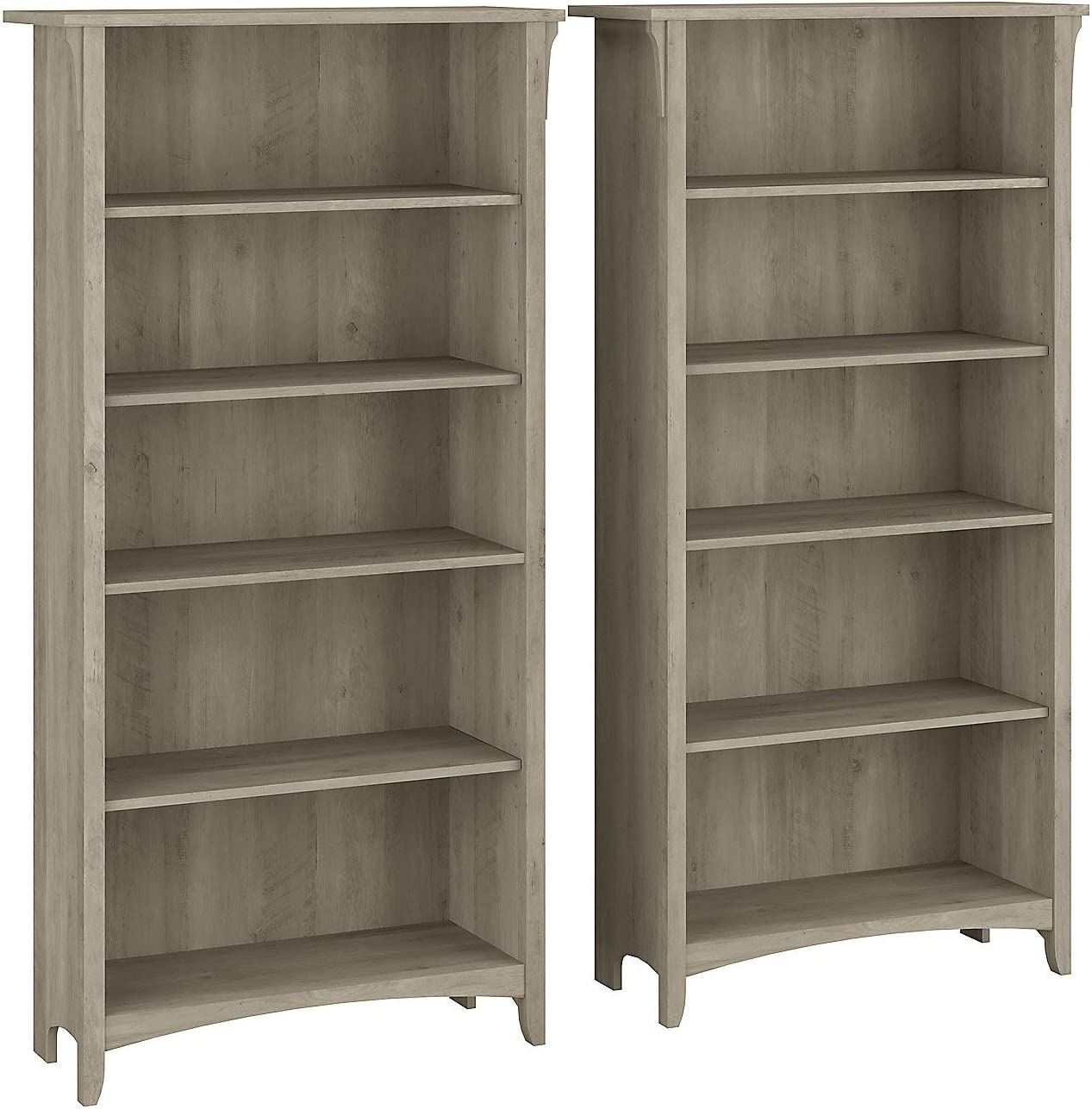 Bush Furniture Salinas Tall 5 Award-winning store Shelf 2 of - Set All stores are sold Driftwo Bookcase