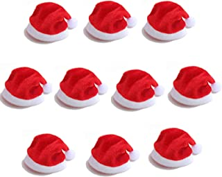N-B Fashion Mini Christmas Santa Hat Cup Bottle Cover Christmas Crafts Accessories Home Decorations