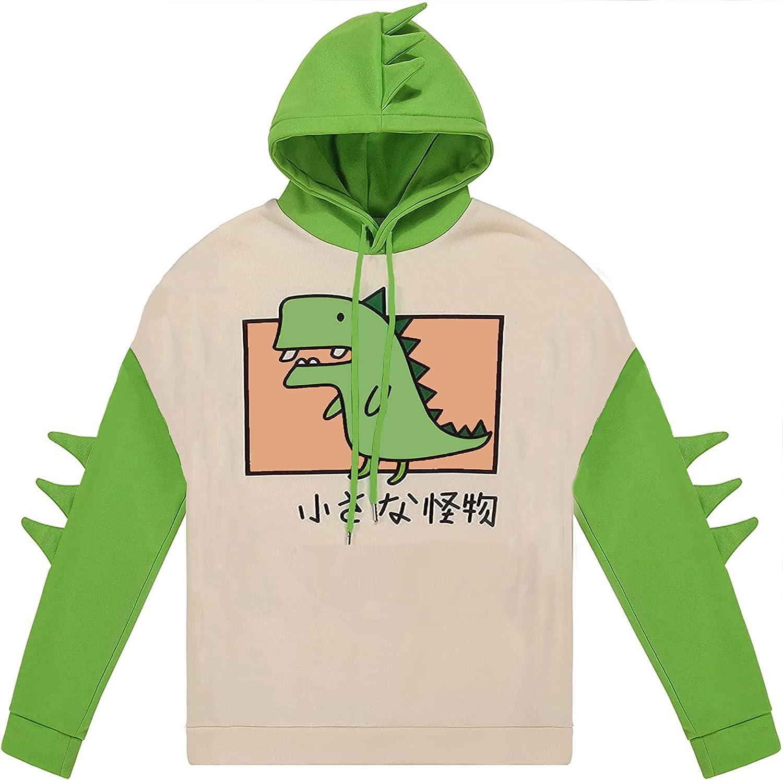 Lvswebe Teen Girl's Max 47% OFF Cute Houston Mall Dinosaur Sweatsh Hooded Hoodie Pullover