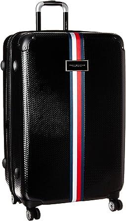 "Basketweave 28"" Upright Suitcase"