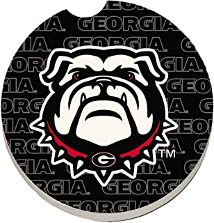 CounterArt Absorbent Single Fan Car Coaster - University of Georgia