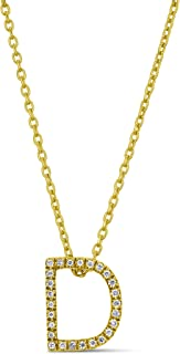 Best solid gold letter necklace Reviews