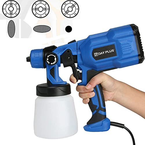 popular Paint Sprayer 550W HVLP Spray Gun Lightweight with 2m Cable, Electric Paint Gun with lowest 3 Spray Patterns 800ml Detachable Container for Painting Ceiling, Fence, 2021 Cabinets, Tables, Chairs, Walls and Crafts outlet online sale
