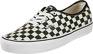 Mens Authentic LITE Checkerboard Black White Size 7.5