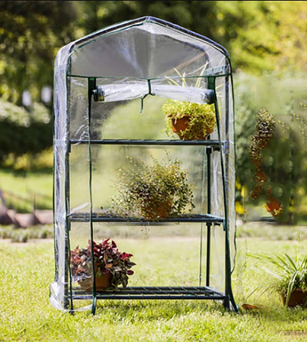 ZWWS-YJ Invernadero del jardín: Invernadero de 3 Pisos con 3 estantes de Rejilla para el jardín de Hierbas al Aire Libre en el Interior Balcón portátil Habitación de Crecimiento: Amazon.es: Hogar