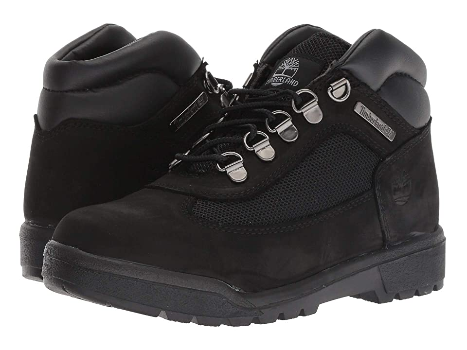 Timberland Kids Fabric/Leather Field Boot (Big Kid) (Black Waterbuck Nubuck) Kids Shoes