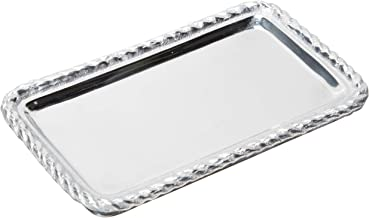 MARIPOSA Rope Statement Tray, Silver